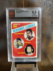 1971-72 Topps WILT CHAMBERLAIN HAYES ALCINDOR #142 BVG 8.5 lakers 🏆TOPP TIER🏆