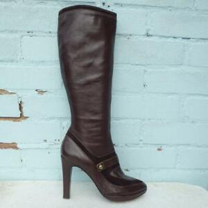 Joseph Leather Boots Size UK 6 Eur 39 Womens Shoes Platform Suede Brown Boots