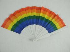 Rainbow Folding Fan rainbow print Hand Held Fan pride fan fold new kawaii cute