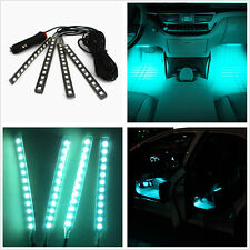 4x12 LED Ice Blue Lamp Car SUV Interior Footwell Decor Atmosphere Neon Light Bar