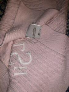 Restoration Hardware Baby & Child Pink 100% Cotton Knitted Throw