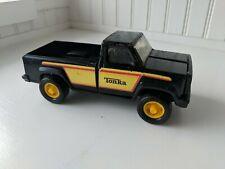 """Vintage TONKA Black Pressed Metal Pickup Truck w/ decals 7.5"""""""