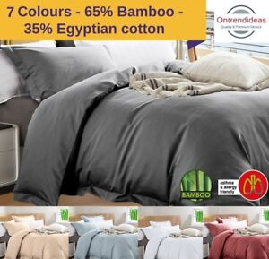 Luxury 400TC Bamboo Egyptian Cotton Quilt Cover Set | Eco Friendly Allergy Free