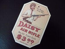 Happy Daisy Boy No. 25 BB Air Rifle Pump Gun- Repro Hang Tag  -Plymouth MI,1916