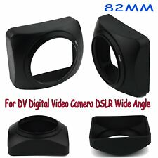 82MM Square Lens Hood Sun Shade for DV Camcorder VideoCamera DSLR Wide Angle BUS