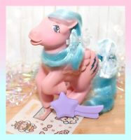 ❤️My Little Pony MLP G1 Vtg 1983 Pegasus Firefly Glitter Original STAR BRUSH❤️