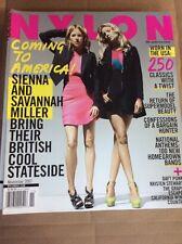 NOV 2007 NYLON vintage fashion magazine Sienna & Savannah Miller