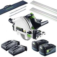 Festool TSC 55 Li 5,2 REB-Set-FS 18v 2x5.2ah Li-ion Cordless Plunge Saw in Sys 5