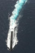 Royal Navy Submarine HMS Torbay on Surface Exercise Deep Blue 12x8 Inch Photo
