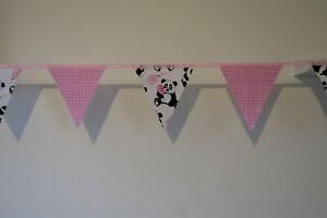 Panda Bunting bedroom nursery home decor gift fabric
