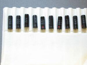 10 pcs. OA7 gold bonded germanium diodes - black glass case - for chrystal radio