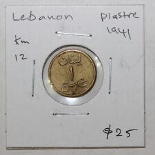 LEBANON  (1941)  PIASTRE Km 12  (3212243R22)