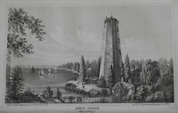 Shot Tower East River New York City Military Fortifications 1860 Valentine print