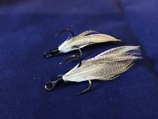 Xmarks Custom Feathered Trebles Owner ST-41 BC 2X Size 4 Fish Tail