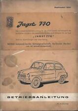 FIAT 600 CABRIO Betriebsanleitung 1960 Bedienungsanleitung JAGST 770 Handbuch BA