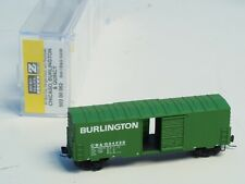 503 00 062 MTL Z-scale 40' box car Single OPERATING Door BURLINGTON CB&Q