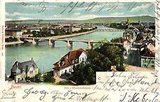 Basel, Die 3 Rheinbrücken, 1902