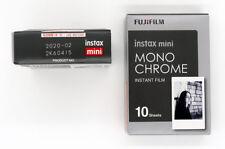 Fuji 2 cartouches instax mini monochrome 10 vues utilisable jusquà 02/2020