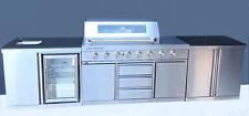BBQ's-R-US Grillmaster outdoor 6 burner stainless steel kitchen