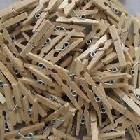 25MM Natural Wooden Clothes Photos Paper Peg Clothespin Craft Clips 50 PCS New