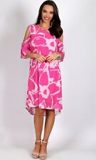 BNWT Ladies Sz 16 Teaberry Brand Fuschia Cold Shoulder Relaxed Tunic Dress
