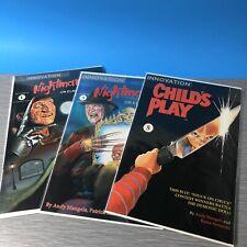 Innovation comics Nightmares on Elm Street Vol 1&3 childs play vol 5 Lot Of 3