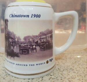 Tiger Beer Singapore Chinatown 1900 Beer Mug
