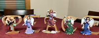 Lenox 2004 Handcrafted Christmas Figurines -Celebration of PEACE Set OF 5 Angels