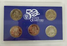 UNITED STATES MINT 2002 SET OF 5 DIFFERENT STATE PROOF QUARTERS