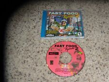 Fast Food Tycoon 2 (PC, 2001) Game Excellent Condition