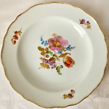 EXQUISITE MEISSEN 7 1/2 INCH FLORAL CABINET PLATE, PINK & RED