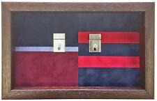 Large Double Regimental Colours Medal Display Case