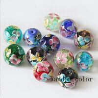 Lots 10X Luminous Glass String Bead Loose Spacer Flower Making Jewelry Bracelet