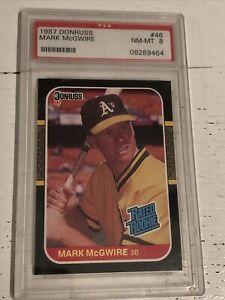 1987 Donruss #46 Mark McGwire Oakland A's RC Rookie PSA 8 NM-MT