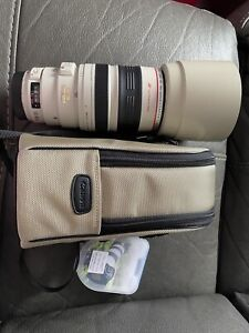 Canon EF 100-400mm Image Stabiliser F4.5-5.6 L IS USM Zoom Lens + F/R Caps +Hood
