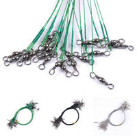 1pc Rolling Fishing Leash Wire Anti-bite Line With Swivel Wire Leader Tools Hot