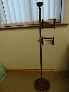 18th ANTIQUE TURNED & STAINED WOOD SQUIRREL CAGE SKEIN WINDER 38 1/2 INCHES HIGH