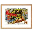 Movie Film Monster Ocean Floor Octopus Horror Framed Print 9x7 Inch