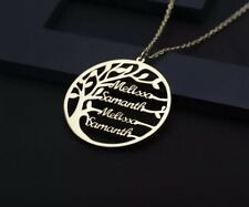 Statement Family Customized Name Tree Name Necklace Gold Color