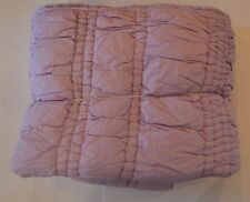 POTTERY BARN TEEN LAVENDER TWIN RUCHED QUILT STORE RETURN excellent condit