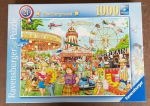 JIGSAW Ravensburger 1000 Piece Puzzle THE FAIRGROUND Checked COMPLETE