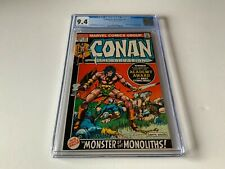 CONAN THE BARBARIAN 21 CGC 9.4 AWESOME COVER THE BLACK STONE MARVEL COMICS 1972
