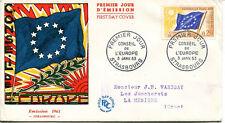 FRANCE FDC - 453a S27 1 CONSEIL DE L'EUROPE 3 1 1963