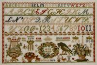 NEW CROSS STITCH KIT GERMAN SAMPLER 1854 PERMIN OF COPENHAGEN 39-4111
