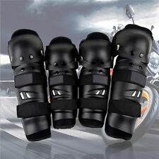 4pcs Adult Knee Shin Armor Protector Guard Pad For Bike Motorcycle Motocross