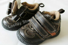 Baby Boy Newborn SIZE 2 Boots Infant Brown High Top Walking Shoes 2 Double Strap