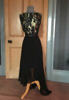 GORGEOUS BNWT COAST BLACK/GOLD PLEATED SKIRTED EVENING DRESS, SIZE 18