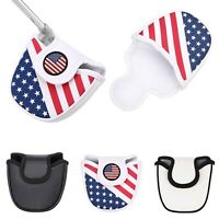 Mallet Putter Cover with Magnetic Closure Vinyl Headcover Club Protector