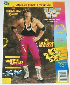 WWF MERLIN STICKER ALBUM POSTER STYLE WALLCHART 1994 BRET HART UNDERTAKER WWE