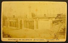 Photo 1870 Monument de Champigny  Photographie ancienne 10,5 cm par 6,5 cm